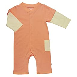 Babysoy Layered One Piece (Baby) - Cantaloupe-12-18 Months