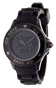 ICE-Watch - Montre femme - Quartz Analogique - Ice-Love - Black - Small - Cadran Noir - Bracelet Silicone Noir - LO.BK.S.S.10