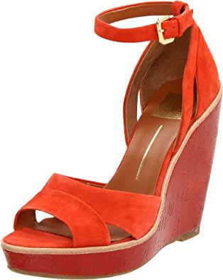 Dolce Vita Women's Paiva Wedge Sandal,Melon Suede,9.5 M US