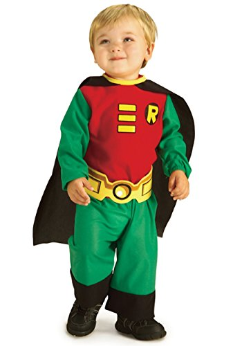 [Rubies Costume Co. Inc unisex-adult Little Boys' Toddler Robin Costume 18 Months/2T] (Kids Batman And Robin Costumes)