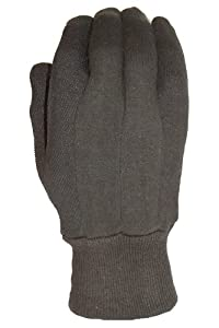 Big Time Products 9116-06 True Grip Brown Medium Jersey Glove with Mini-Dots