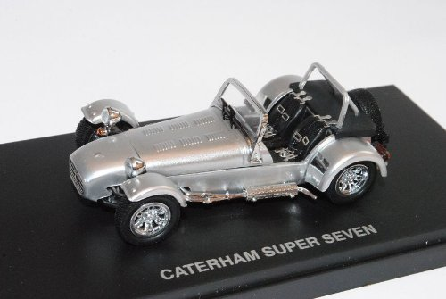 Caterham Super Seven 7 Cycle Fender Silber 1/43 Kyosho Modell Auto