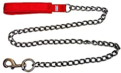 Petshop7 High Quality & Stylish Red Nylon with Padded Handle Dog Chain -Xtra Small