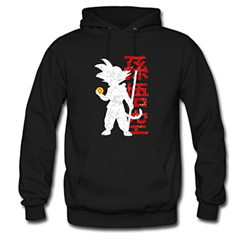 Nesth Custom Dragon Ball Z Goku Men's pullover hoodie Workout Hoodie Running Hoodie L Black
