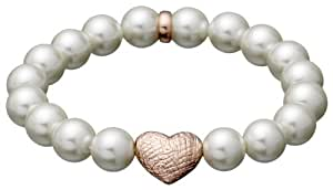 Pilgrim Jewelry Damen Armband Messing Perlmutt Classic 17.0 cm weiß 601414092