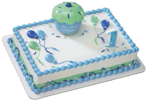 Cupcake Keepsake First Birthday Blue Decoset ~ Cake Topper
