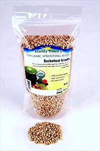 Hulled Buckwheat Groats- 1 Lbs - Organic Buck Wheat Groats- Sprouting Seed, Gardening, Planting, Edible Seeds, Emergency Food Storage, Hydroponics