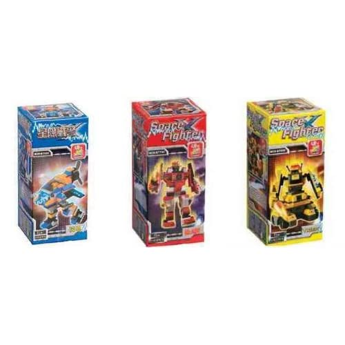 Amazon.com: Sluban Set of 3 Space Fighters Ray Blaze and