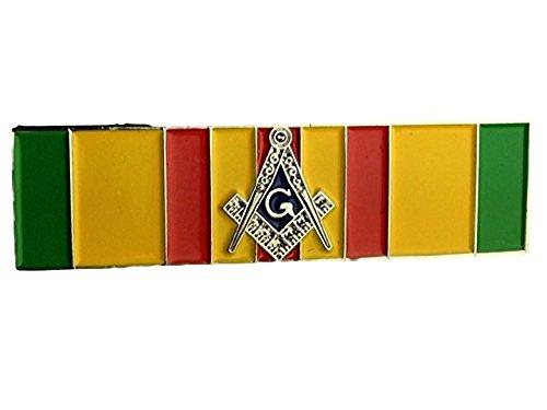 Lapel Pin Masonic Vietnam Campaign Service Ribbon with Square & Compass (Vietnam Service Flag compare prices)