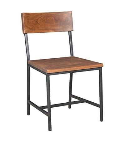 Tottenham Court Rillia Chair, Black/Chestnut