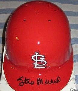 Stan Musial autographed signed auto St Louis Cardinals mini batting helmet PROOF -... by Sports+Memorabilia