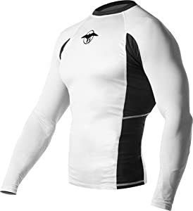 Hayabusa Haburi Long Sleeve Rashguard Shirt, White, Medium