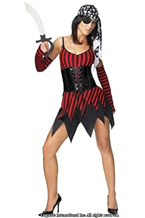 Coquette Adult Halloween Woman's Pirate Buccaneer Costume M/L