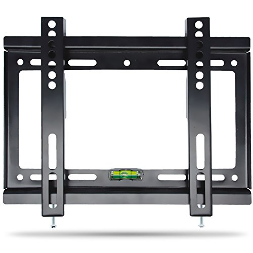 TV Wall Mount Slim Low Profile 14-42 Inch Flat Screen Monitor TV Display Bracket MAX Vesa 200*200mm  (Load  Capacity 55LB Bubble Level included) (Low Profile Wall Box compare prices)