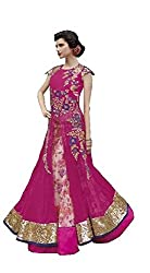 Pink Colored Sequence Lace Embroidered Lhenga