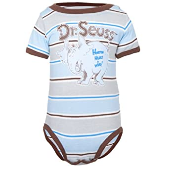 Amazon Dr Seuss Horton Striped Baby e Piece