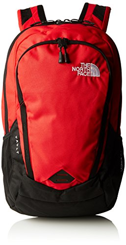 The North Face Vault Backpack - zainetto uso quotidiano, Nero/ Rosso (TNF Black/TNF Red), Taglia unica