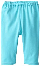 Zutano Unisex Baby Primary Solid Pant, Pool, 12 Months