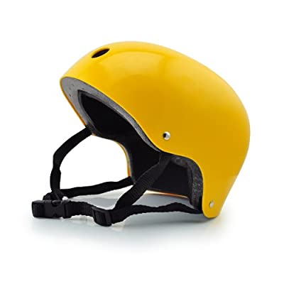 Boys Girls Pink skating bike cycling Helmet in yellow Size(M)51-54cm by Ruijue