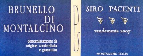 2007 Siro Pacenti Brunello Di Montalcino Tuscany 750 Ml