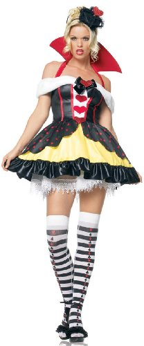 Leg Avenue Women's Sexy Queen of Hearts Alice in Wonderland
