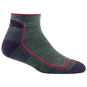 Darn Tough Women's Merino Wool Cushion 1/4 Hiking Socks L Moss