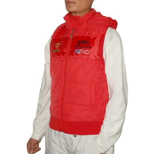 LIMITED EDITION: Boys SUPERMAN / DC Comics Zip-Up Outdoor Thermal Fall / Winter Vest