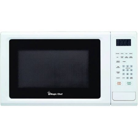 Magic Chef 1.1 cu ft Microwave, 10 power levels 8 auto cook menus (White) (Daewoo Over The Range compare prices)