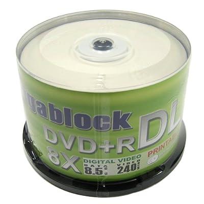 300pcs Gigablock DVD+R 8x Dual Double Layer 8.5GB/240min White Inkjet Hub Printable Top
