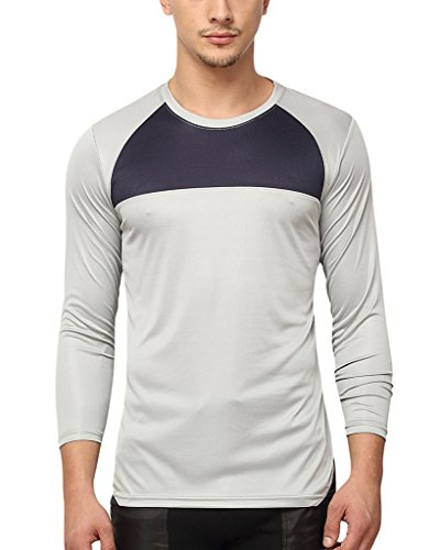 Campus-Sutra-Men-Odourless-Half-Sleeve-Round-Neck-Grey-Dryfit-Jersey