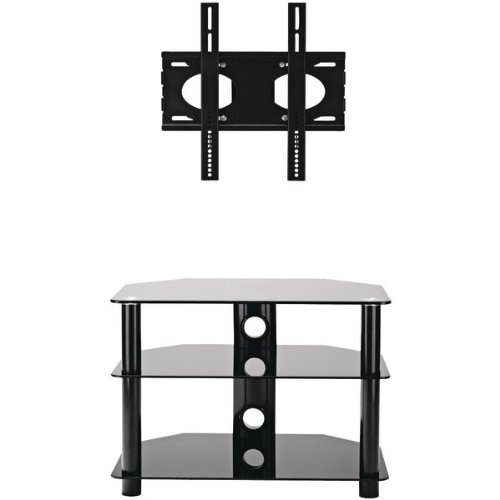 1 buy cheap omnimount modena 37fp tv stand fits most 26 inch to 37 inch flat panels black. Black Bedroom Furniture Sets. Home Design Ideas