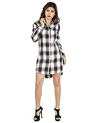 IndZone Women Checks Shirt(1602 - M_Multicoloured_Medium)