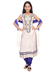 Ritu Creation Women's New Silk Straight Long Chudidar Suit With Neck Embroided Work