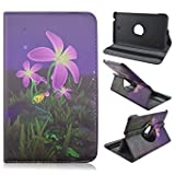 AFLY 360 Degree Rotating Folio Smart PU Leather Cover Case for Samsung Galaxy Tab 4 8.0 SM-T337 SM-T337a SM-T330 SM-T330NU SM-T331 SM-T335 (Color: A09)