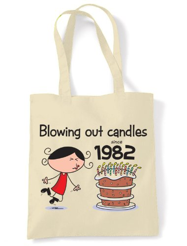 Blowing Out Candles Since 1982 30th Birthday Tote / Shoulder Bag