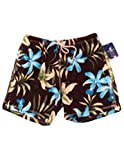 Caribbean Joe Men's Black Swim Trunks Board Shorts