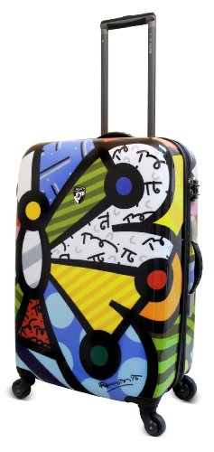 Heys USA Luggage Britto Butterfly 26 Inch Hard Side Suitcase, Multi-Colored, One Size top deals