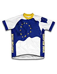 European Union Flag Short Sleeve Cycling Jersey for Women