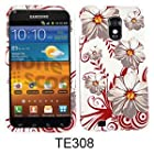CELL PHONE CASE COVER FOR SAMSUNG EPIC 4G TOUCH GALAXY S II D710 WHITE FLOWERS RED LEAVES