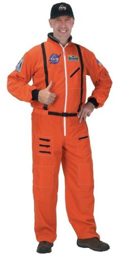 Astronaut Suit Men's Costume Orange (Large)