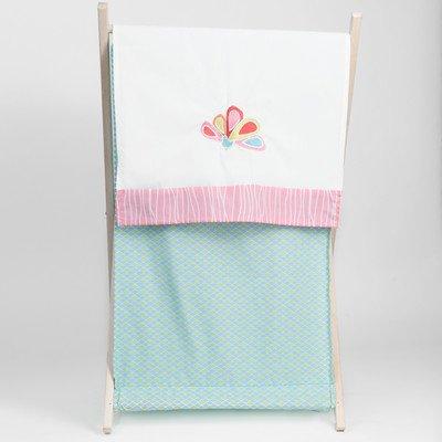 Pam Grace Creations Laundry Hamper, Aqua Peacock front-1030701