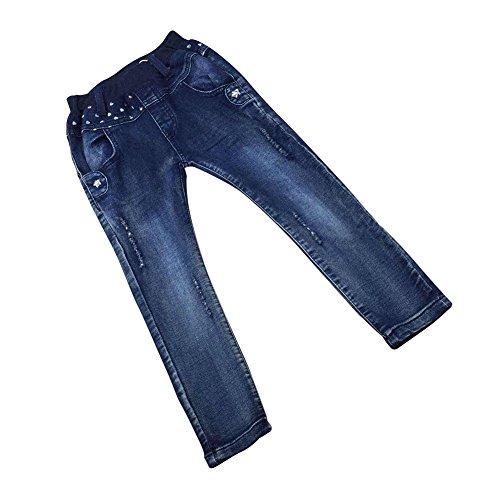 Zier Bambini Lungo Del Denim Dei Jeans Mutanda Casuale Pull Up Elastico Regolabile 33843