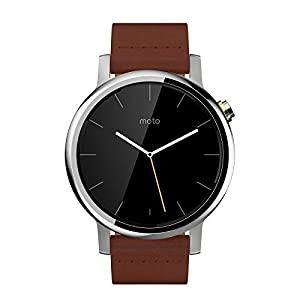 Motorola Moto 360 Large 2nd Generation SmartWatch - Cognac Brown Leather