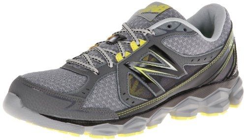 New Balance Men'S M750 Running Shoe,Grey/Lime,9 D Us