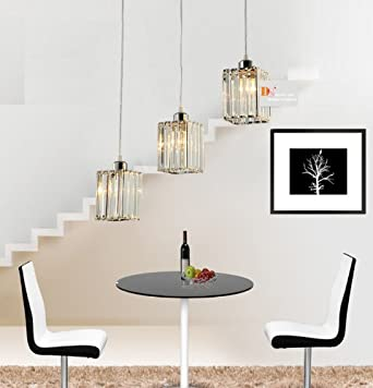 Modern Crystal Chandeliers Lighting Fixtures Dining Room Ceiling Lamps 3 Ligh