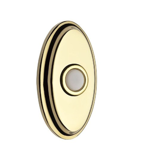 Baldwin Br7016 Solid Brass Oval Illuminated Bell Button From The Reserve Collect, Polished Brass front-866277