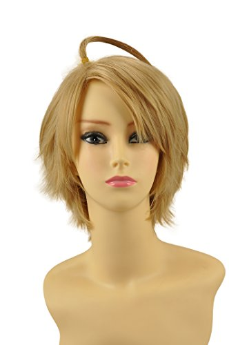 [HH Building Axis Powers Hetalia APH - America USA Alfred F Jones Cosplay Wigs Man's Short Anime Costume Party Hair Wig] (Costumes F)