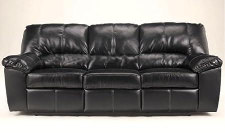 Contemporary Black DuraBlend Reclining Sofa