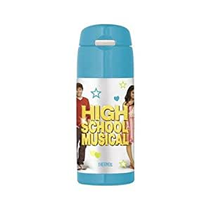 Thermos Funtainer Beverage Water Bottle, Stainless Steel, BPA Free, 12 Oz, with Straw (Blue High School Musical)