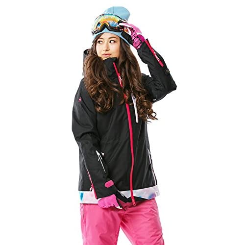 16'新作 43DEGREES スノーボードウェア スキーウェア スノボウェア レディース上下セット 16. Black × Pink Sサイズ